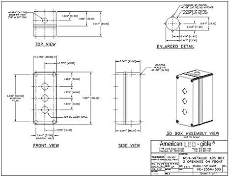 Amazon.com: 22 mm policarbonato Enclosure, Gris Claro, 3 ...
