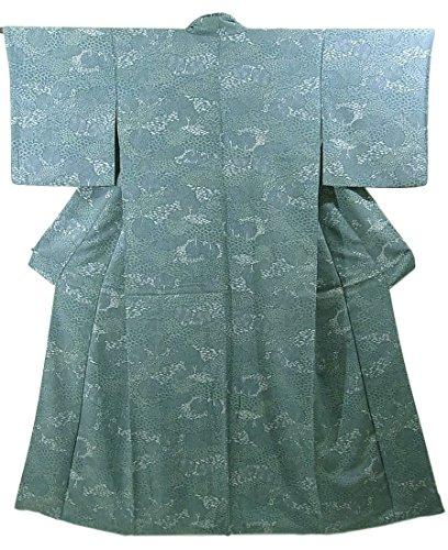 修正する展開するしかしながらリサイクル 着物 小紋 草花文 正絹 袷 裄66cm 身丈164cm