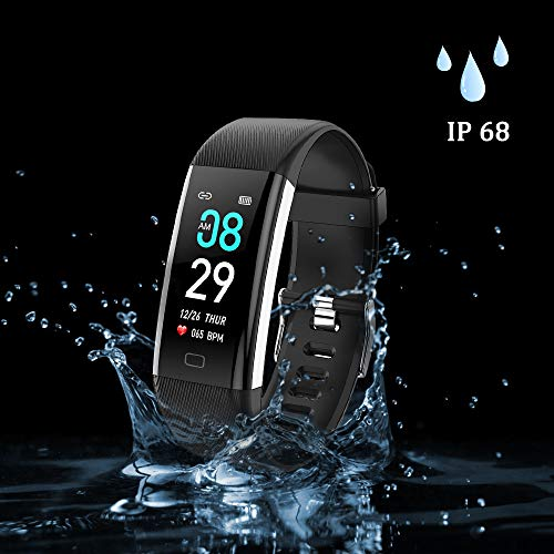 ANCwear Fitness Tracker Watch, F07 Activity Tracker Health Exercise Watch with Heart Rate Monitor Waterproof IP68 Smart…