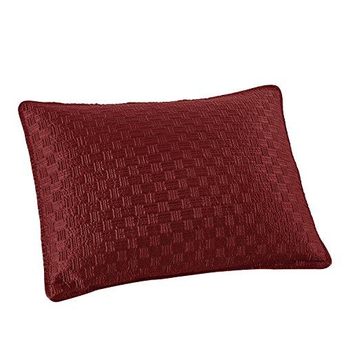 Brielle Basket Weave Sham Set Standard Red