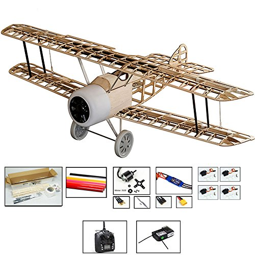 (S111 Radio Remote Controlled Electric Gasoline Gas Glow Powered Aircraft Biplane Sopwith Camel Wingspan 1520mm with Fiberglass Cowling Laser Cut KIT ;Need to Build Model for Adults (S1114B-R2))
