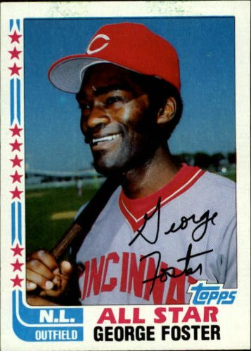1982 Topps Baseball Card #342A George Foster