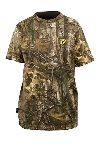 Scent Blocker Youth Short Sleeve Cotton T-Shirt, Real Tree Xtra, Medium (Tree Real T Shirts)