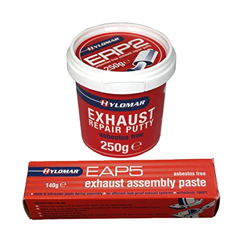 Hylomar Exhaust Repair Putty ERP2 250g + Exhaust Assembly Paste EAP5 140g: