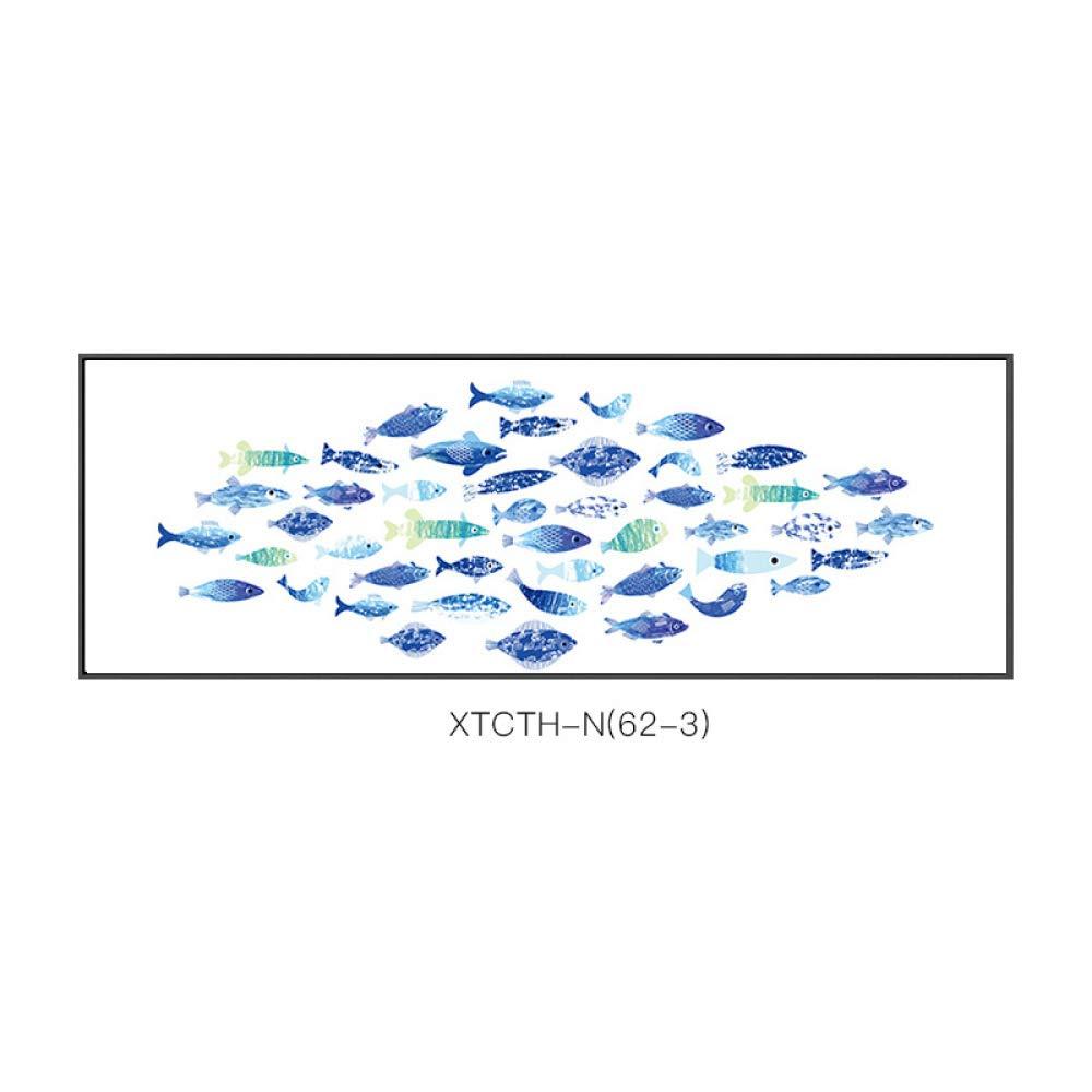 DEED Pintura de cabecera de los Pescados del Milenio Pintura Decorativa Moderna estética Animal Minimalista Modelo Creativo Estilo estético,C,35  135