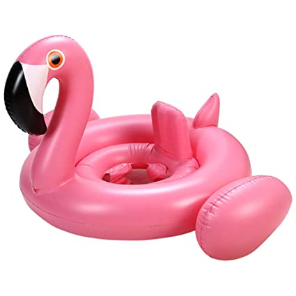 Flamingo Baby Swimming Ring With Canopy-baby Swimming Pool Float Sunshade For 3 Pools & Spas