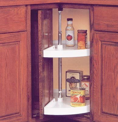Corner Cabinet Storage Organizer Lazy Susan Kitchen Pantry 24 In 2 Tier Pie Cut