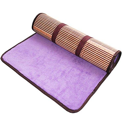 Utilisation double face tapis de lit --- Bambou Été Tapis de nuit Ménage Haut grade Respirant Foldable Cool Mats pour animaux domestiques --- tapis de lit pliant en bambou naturel et en ro ( taille : 65*5