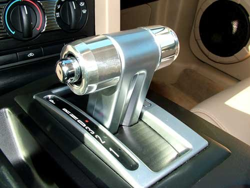 Mustang Action Artistry Automatic Shifter Handle Caps Billet Aluminum Chrome Grooved Pair 2005-2009 ()