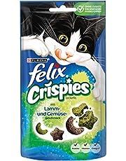 Felix Aperitivo para Gatos Crispies con proteínas, vitaminas y ácidos grasos Omega 6, 8 Unidades (8 x 45 g)