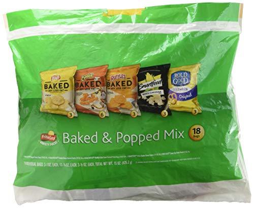 Frito-Lay 18 Piece VP Mix, Baked & Popped, 15 Ounce