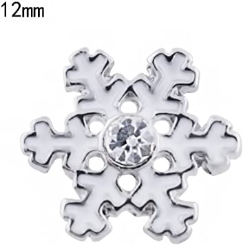 #/& Snap Chunk Button Irredescent Christmas Charm For Ginger Snap Style Jewelry