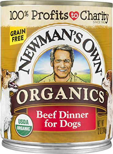 Newman's Own Premium Canned Dog Food, Beef, 12 oz