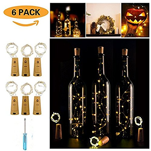 Fairy String Light for DIY, Wedding and Party (6 Pack Bottle Light)