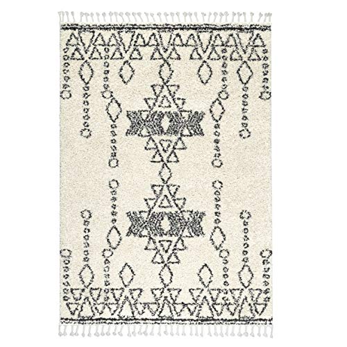 Rivet Contemporary Polypropylene Area Rug, 2 8 x 8 , Ivory