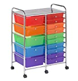 Offex Kids 15 Drawer Mobile Organizer, Assorted