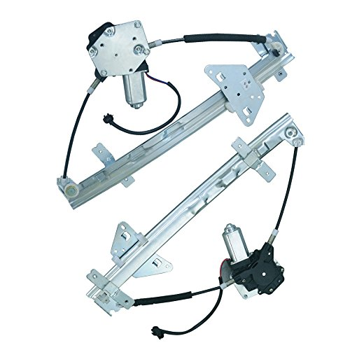 VioGi Fit Rear Driver (Left) + Rear Passenger (Right) Side Power Window Regulator w/ Motor For 00-04 Dodge Dakota Quad/Crew Cab 98-03 Durango ()
