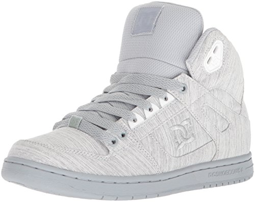 DC Women's Pure High-Top TX SE Skate Shoe, Grey/Grey/Grey, 7 B US