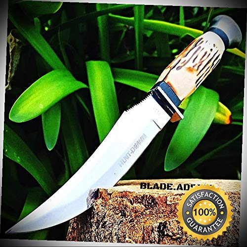 9'' BONE COLLECTOR'S FIXED BLADE UPSWEPT SKINNING KNIFE Hunting Bowie Skinner - Outdoor For Camping Hunting