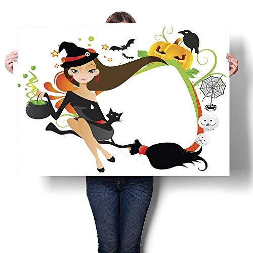 MartinDecor Poster Prints Halloween Frame (2) Decorative Fine Art Canvas Print Poster K 20