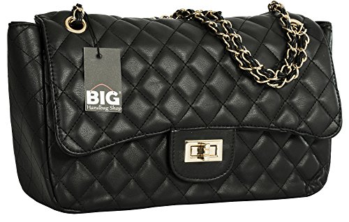 Quilted Large Handbag - 7