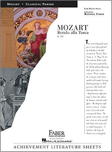 mozart rondo alla turca k331 for piano solo achievement literature sheets