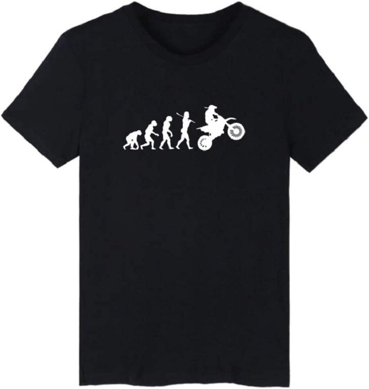 Chemise /à Manches Courtes Course dr/ôle Tout Evolution t Femme C0y24 Moto Sport Chemise Evolution Motocross Shirt Terrain Unisexe Homme gar/çons