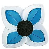 baby bathtub infant insert - Muxika Baby Foam Bloom Bath Flower Sink Insert, Foldable Plush Baby Bath Tubs (Sky Blue 1)