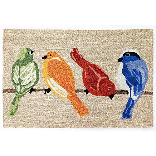 (Liora Manne FTP23445712 Frontporch Indoor/Outdoor Rug, 2' X 3', Birds Neutral )