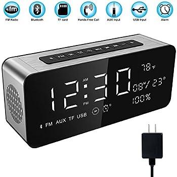 Amazon.com: Tsumbay Alarm Clock Radio with Bluetooth