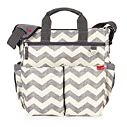 Messenger Diaper Bag With Matching Changing Pad, Duo Signature, Chevron