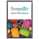 Poster Frame 36x48 Inches, Black SnapeZo 2.2'' Aluminum Profile, Front-Loading Snap Frame, Wall Mounting, Super-Wide Series