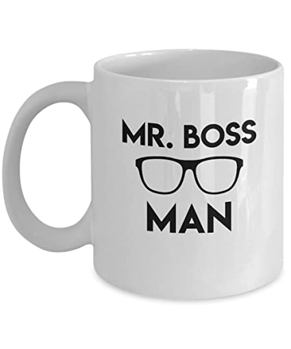 Mr Boss Man Ceramic Coffee Mug Funny Best Office Christmas Gifts