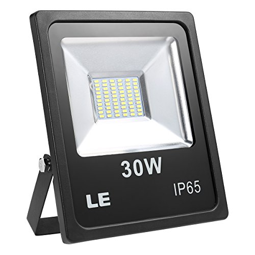 LE Outdoor LED Flood Light, Super Bright, IP65 Waterproof, 30W 2400LM, 75W High Pressure Sodium Lamp Equivalent, Daylight White 6000K, 100