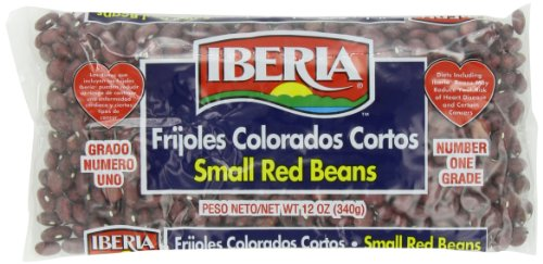 Iberia Small Red Beans / Frijoles Colorados Cortos, 12 oz  Dry  (Pack of 24) by Iberia