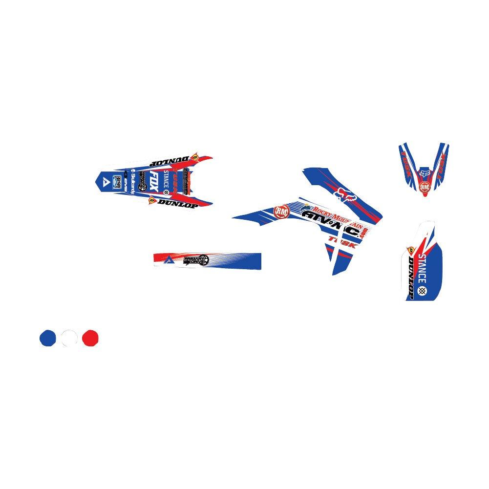 AttackグラフィックスカスタムBlitzフルトリムキットホワイト/ウスターシャー州ブルー – Fits : Honda cr250r 2000 – 2007   B07CBCK1HV