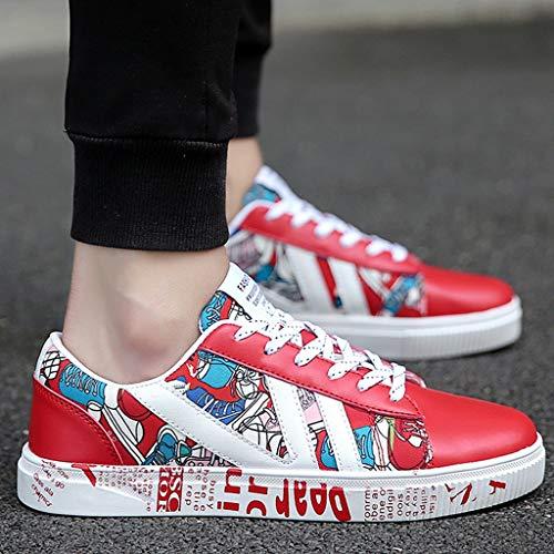 da da casual tendenza Size selvatici uomo 38 estate di scarpe traspirante Color Red tela bordo Scarpe tela WangKuanHome uomo scarpe Red di scarpe qw8XXa6