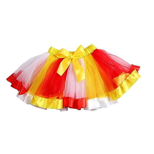 FENICAL Niñas Arco Iris de Color Malla Falda de Tutú Decoración de ...