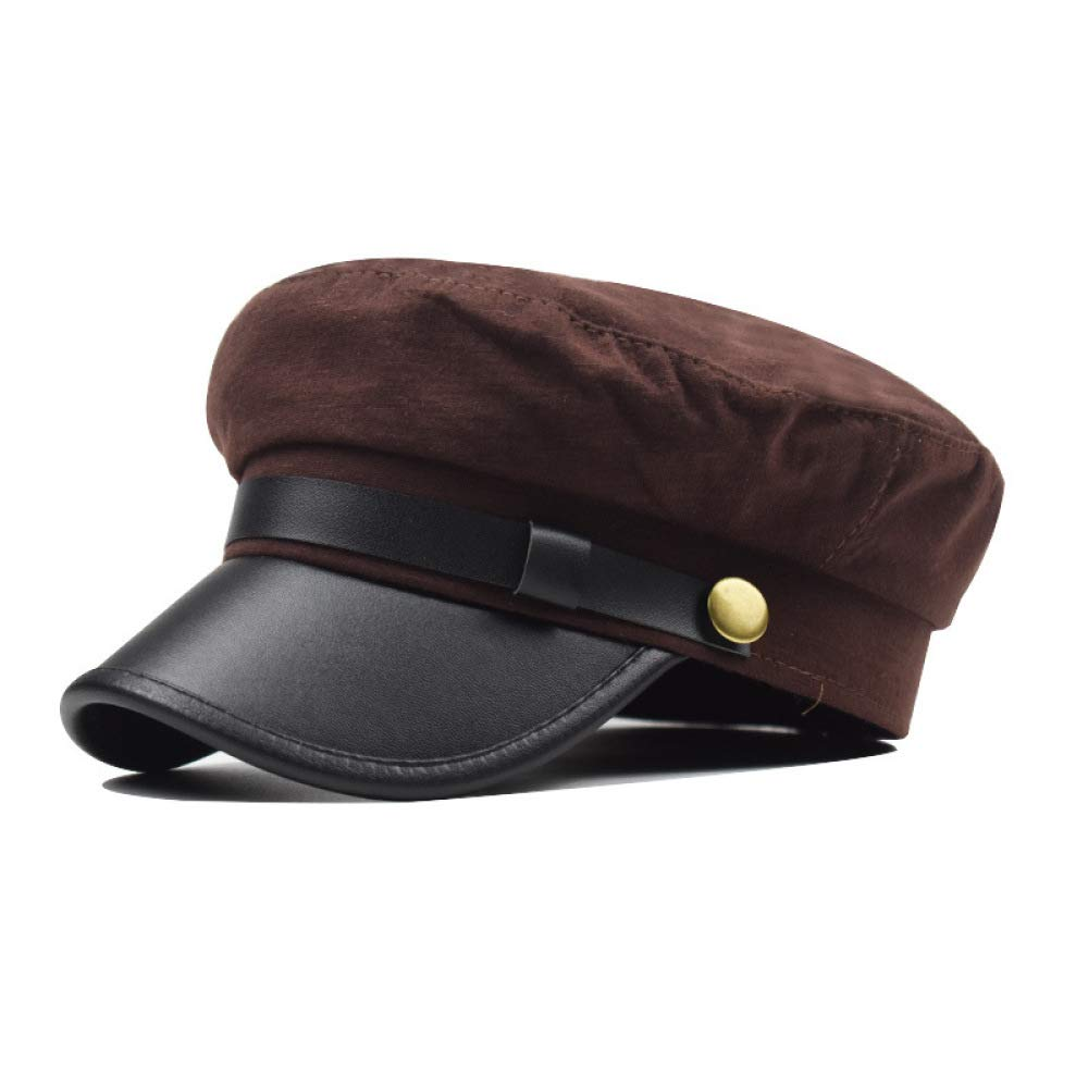 KFEK Chapeau en Laine /à la Mode visi/ère b/éret en Patchwork de Chapeau octogonal Militaire Chapeau