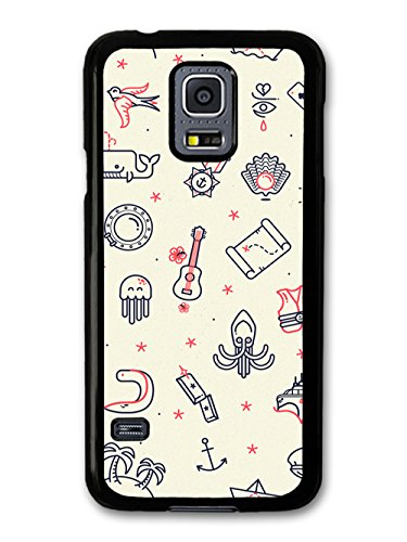 Guitar Map Octopus Ship Anchor Star Beach New Cool Style Design coque pour Samsung Galaxy S5 mini