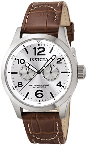 Invicta Men's 0765 II Collection Silver Dial Brown Leather Watch ()