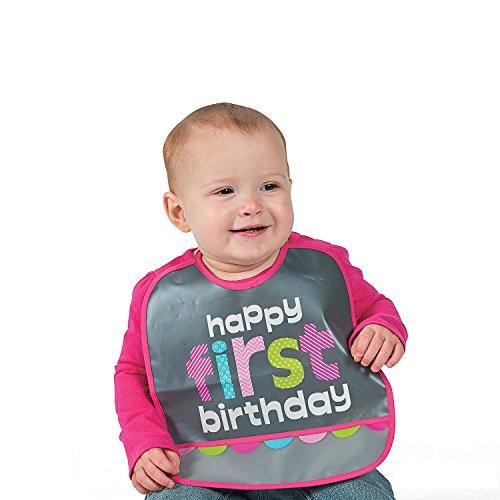 1st Birthday Girl Chalkboard Bib - 10