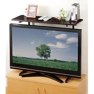 スライド式 薄型テレビ用ラック ブラック