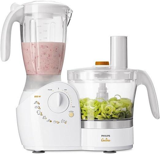 Acciaio Inossidabile Philips Cucina HR7510//10 Robot da Cucina Multifunzione con Frullatore e Spremiagrumi 2.1 Litri 800 W