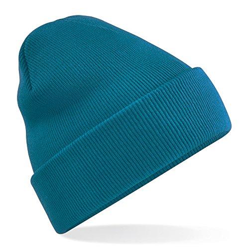 Azulado Suave nieve Super Tacto Invierno Beechfield Verde De Gorro Con Invierno pnqXxXva8Y