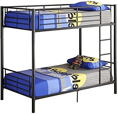 Amazon.com: Twin Workstation Loft Bed Black: Kitchen & Dining