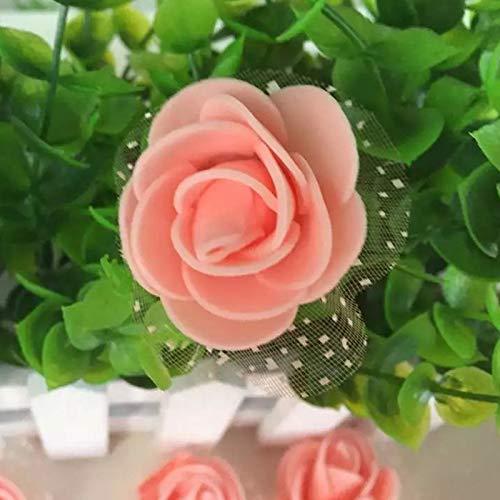 Aosreng 50Pcs/Lot Mini PE Foam Artificial Roses Handmade Wedding Decoration Flower Heads Home Garden DIY Supplies 3.5Cm Peach from Aosreng