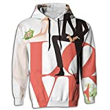 BINGGOO Love Wedding Novelty Hoodie Fit Tie Dye Sportswear