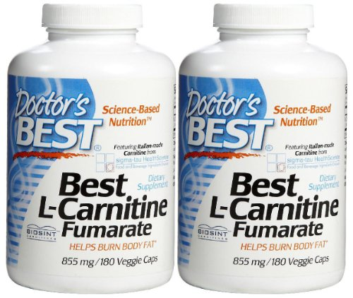 Doctor's Best L-Carnitine Fumarate 855 mg Vcaps, 2 pk