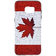 Dream Wireless Cell Phone Case for Samsung Galaxy S7 Edge - Retail Packaging - Flag Canada